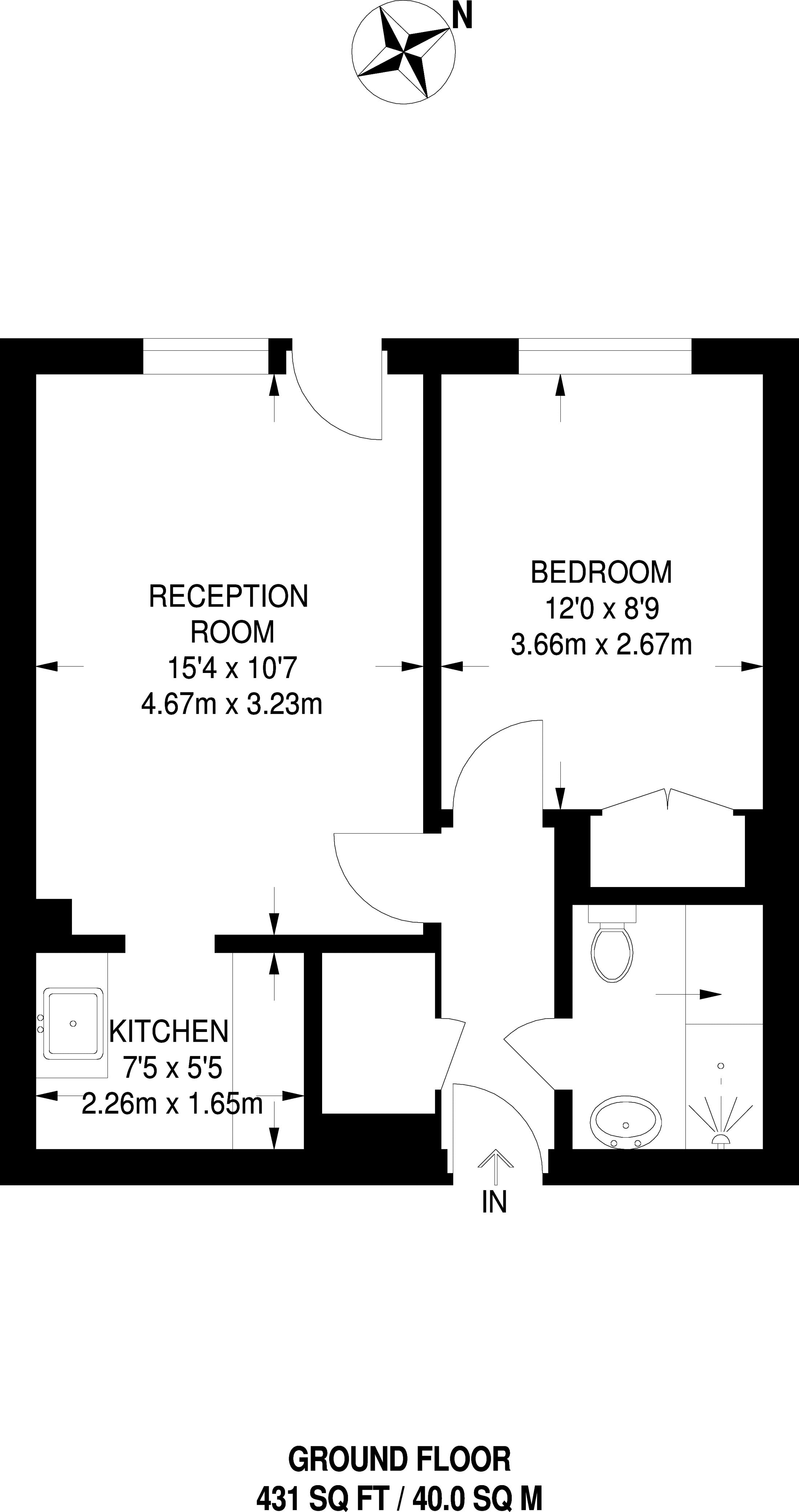 Park Avenue Bromley BR1 1 Bedroom Flat For Sale
