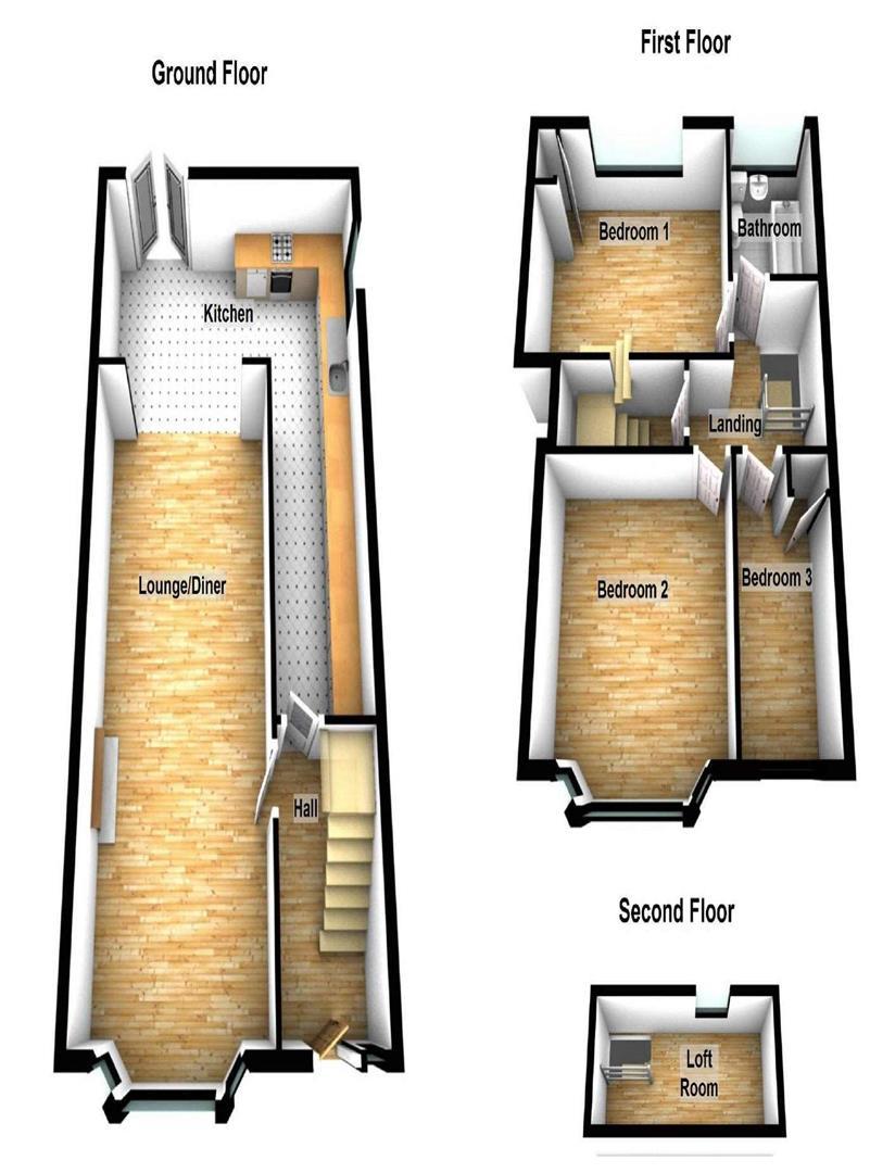 Olma Road, Houghton Regis, Dunstable LU5, 3 bedroom terraced house for sale - 41096112 ...