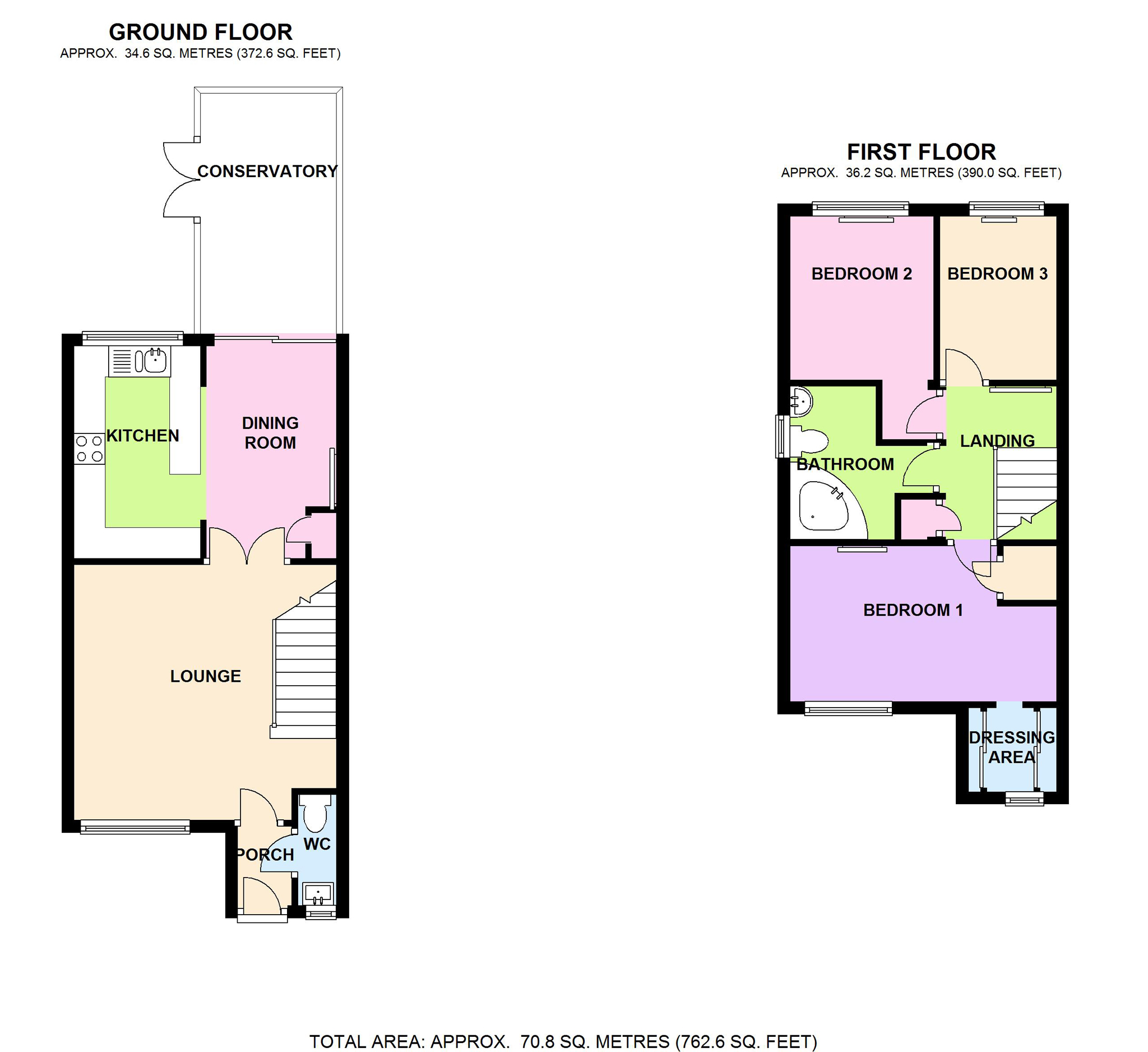 3 bed end terrace house for sale in 39 highgrove road for Highgrove house floor plan
