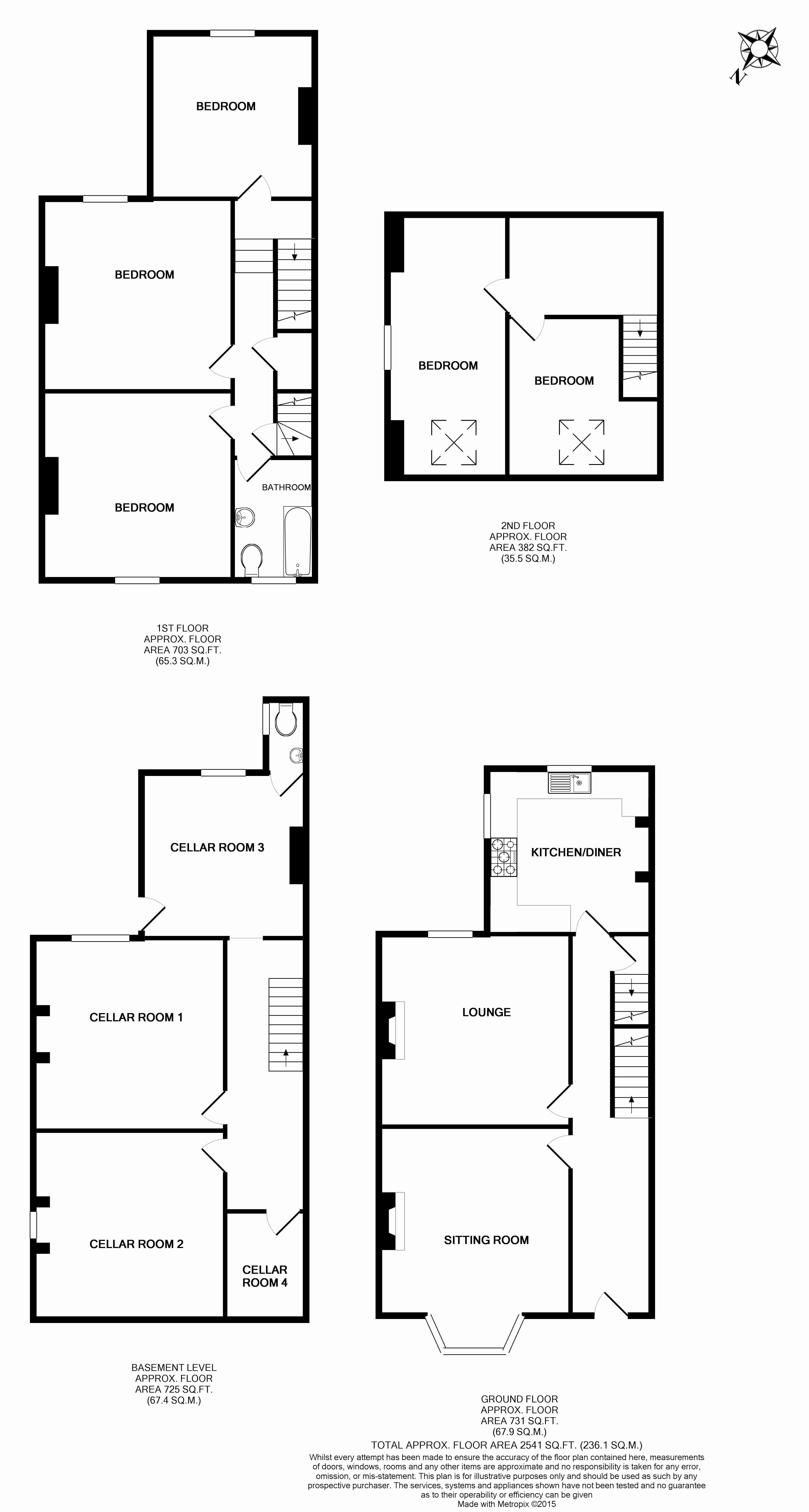 Barnsley road firshill sheffield s4 5 bedroom semi for Sheffield floor plan