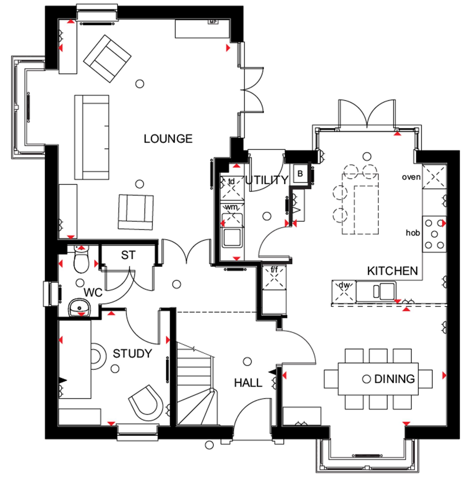 david wilson homes moorcroft floor plan 4 bedroom detached house for sale in meynell road quorn