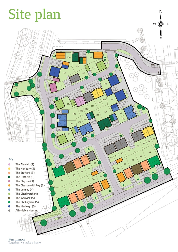 The alnwick at wilbury close coate swindon sn3 2 for Home site plan
