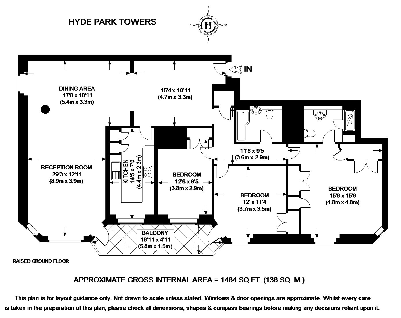Hyde park towers porchester terrace london w2 3 bedroom for 10 porchester terrace