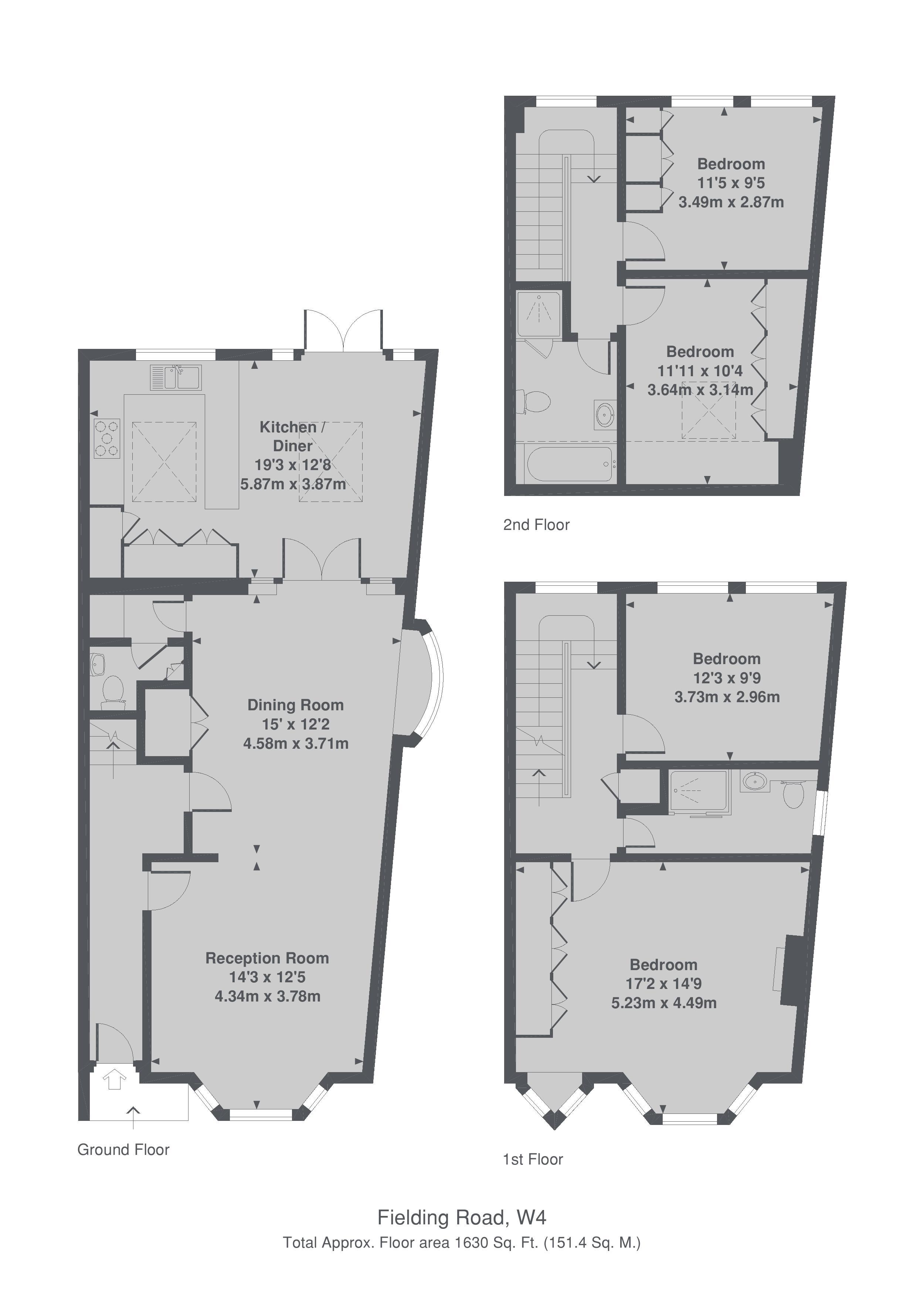 Fielding Road London W4 4 Bedroom Property To Rent