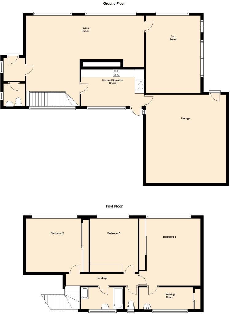 3 bed detached house for sale in Seabridge Lane, Westlands ...