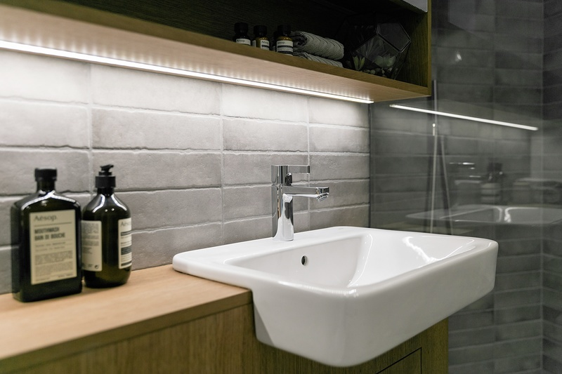 David Chipperfield,Bathroom detail