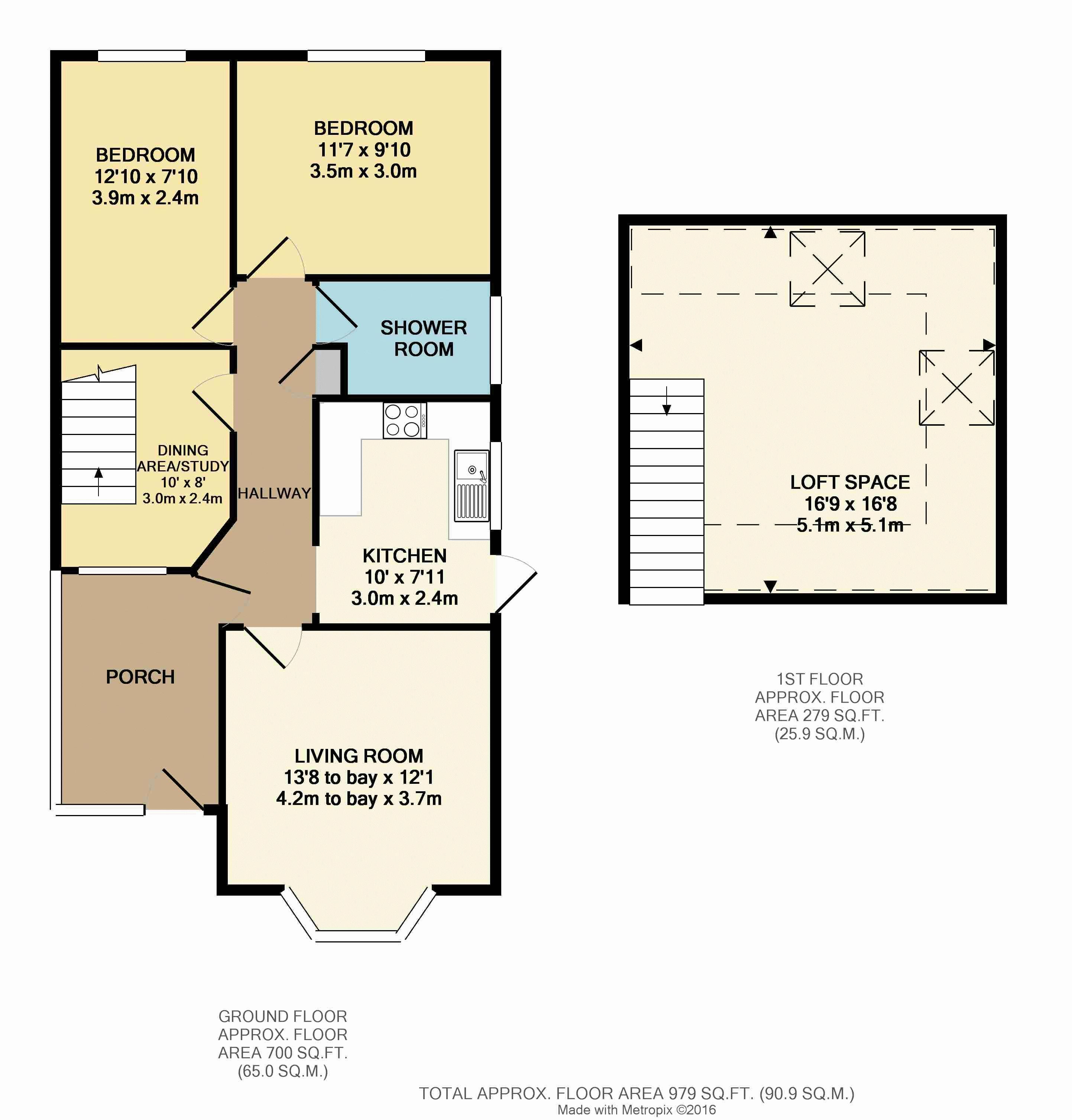Marina Road, Plymouth PL5, 2 Bedroom Semi-detached