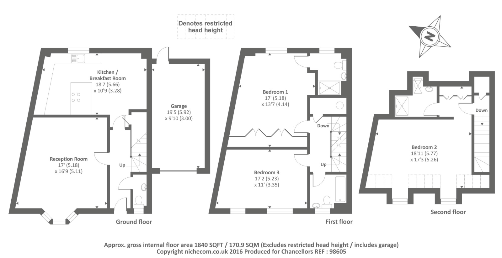 Highgrove avenue ascot sl5 3 bedroom semi detached house for Highgrove house floor plan