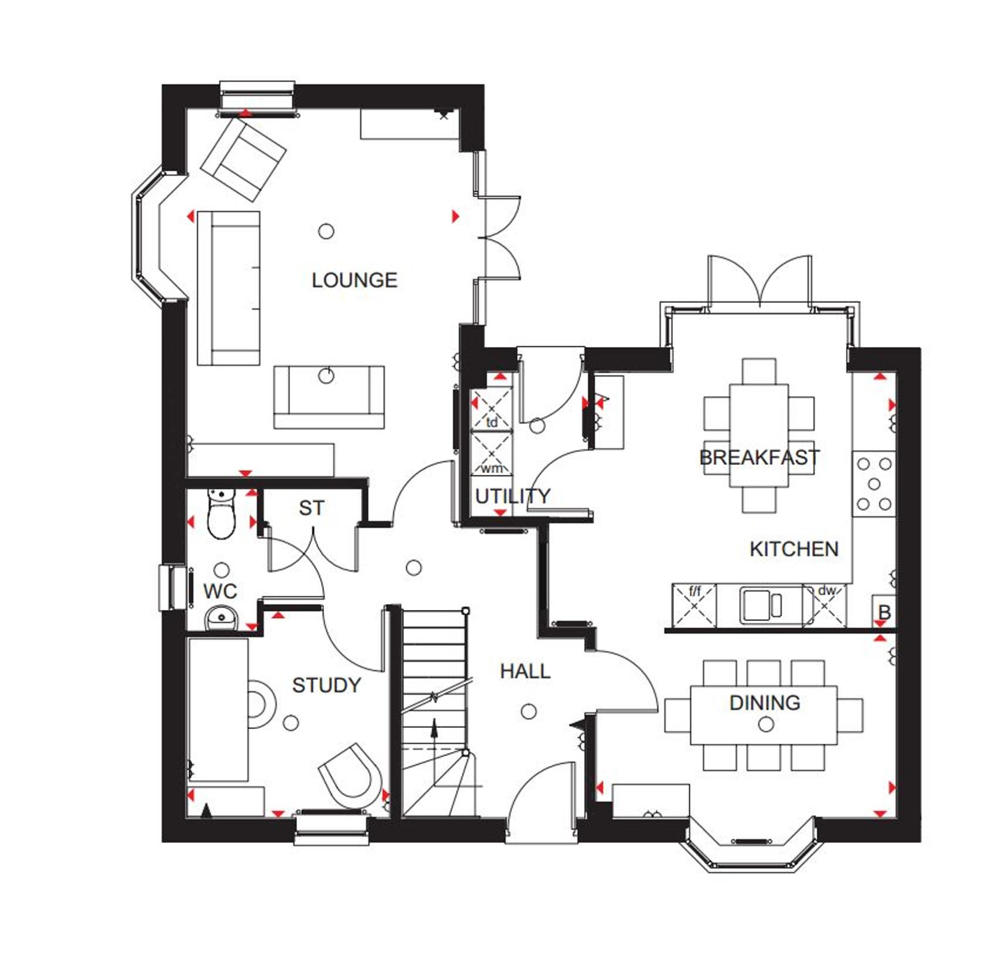 4 bedroom detached house for sale in  u0026quot layton u0026quot  at broughton crossing  broughton  aylesbury hp22