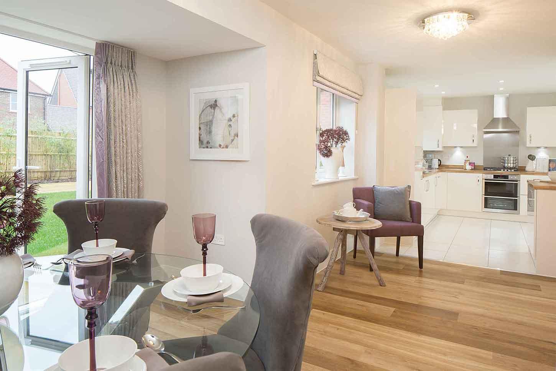 Linden Homes,Dining room