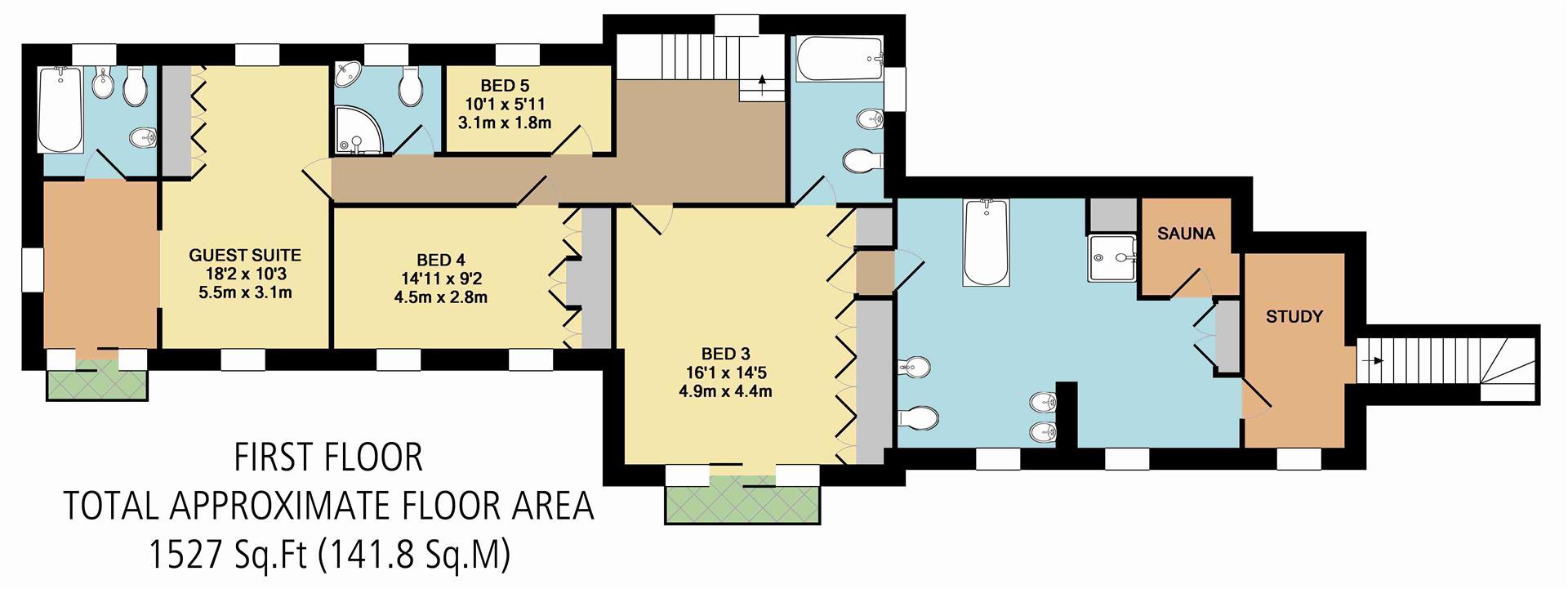 5 bed detached house for sale in horseshoe cottage dobbin for Dobbins homes floor plans
