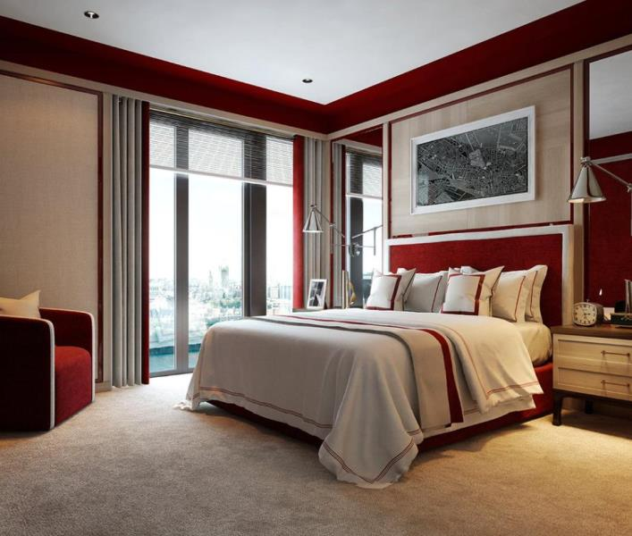 Arup Associates,Master Bedroom