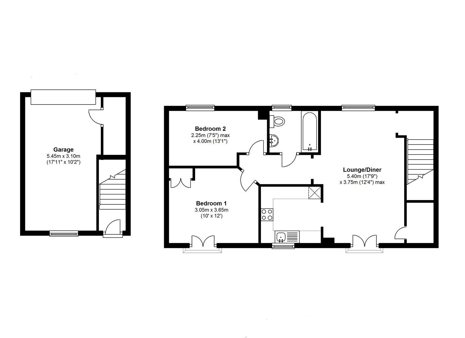 Burlton Road Cambridge Cb3 2 Bedroom End Terrace House