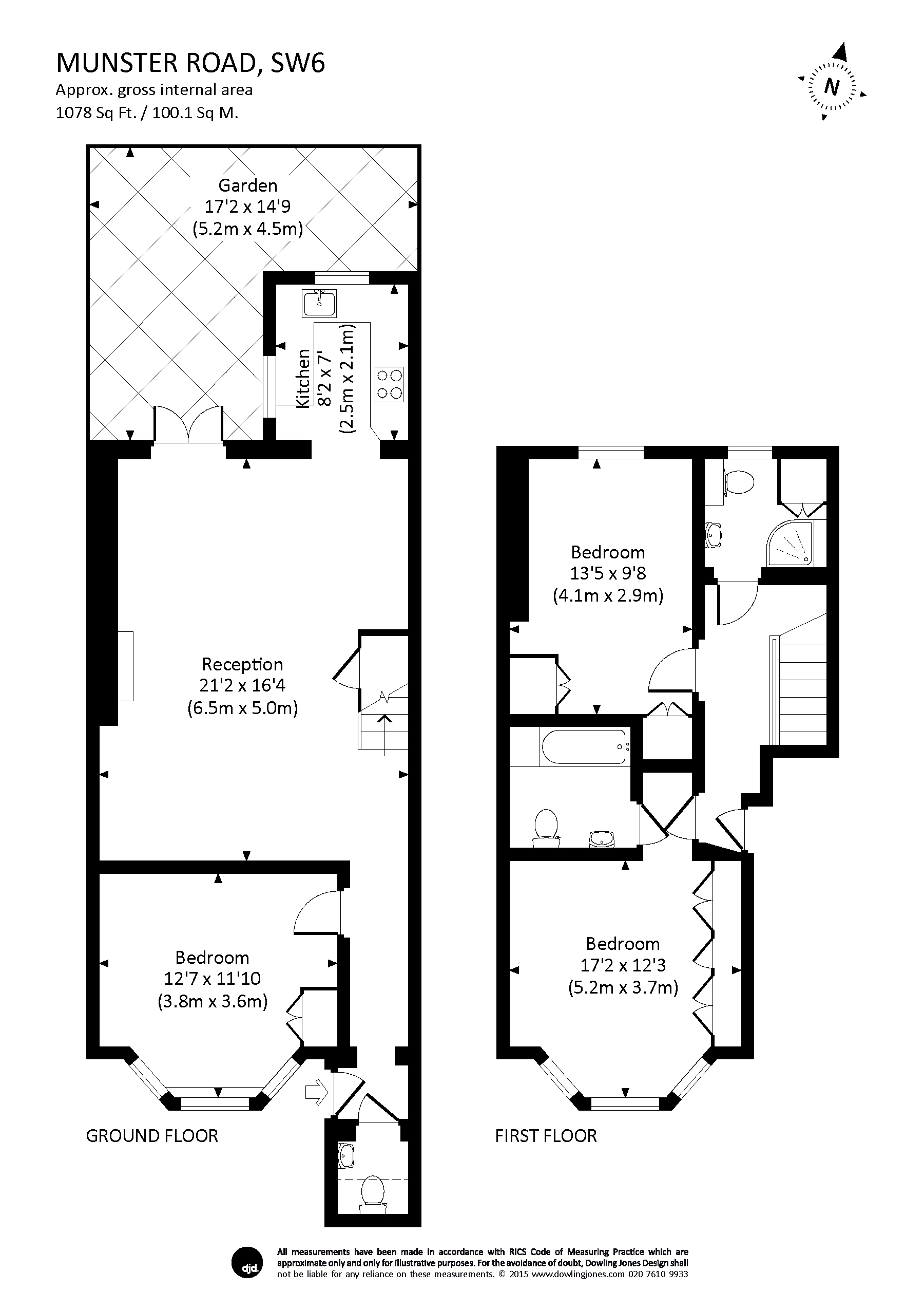 Munster road london fulham sw6 3 bedroom duplex to rent for Up down duplex floor plans