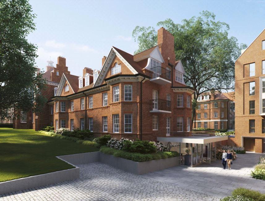 Hampstead Manor development,Front Elevation