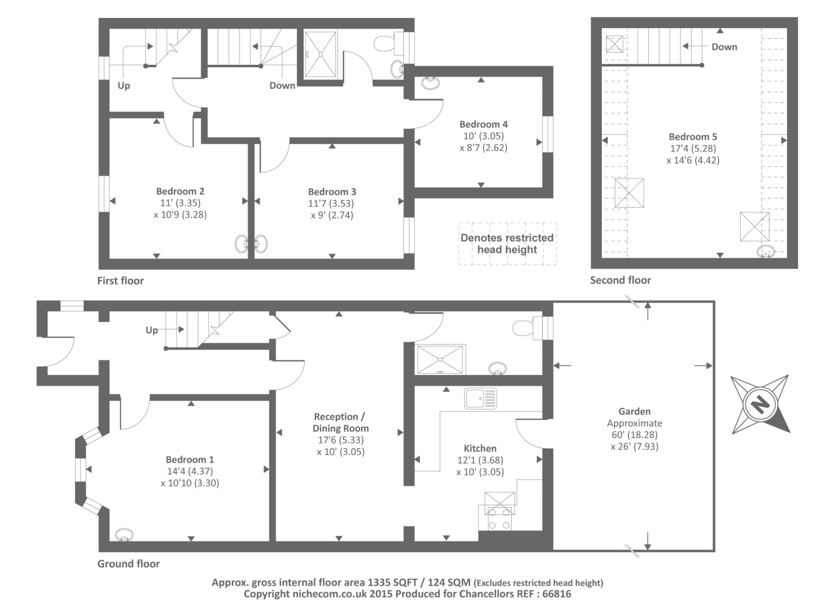 5 bed terraced house to rent in cardwell crescent for Oxford floor plan