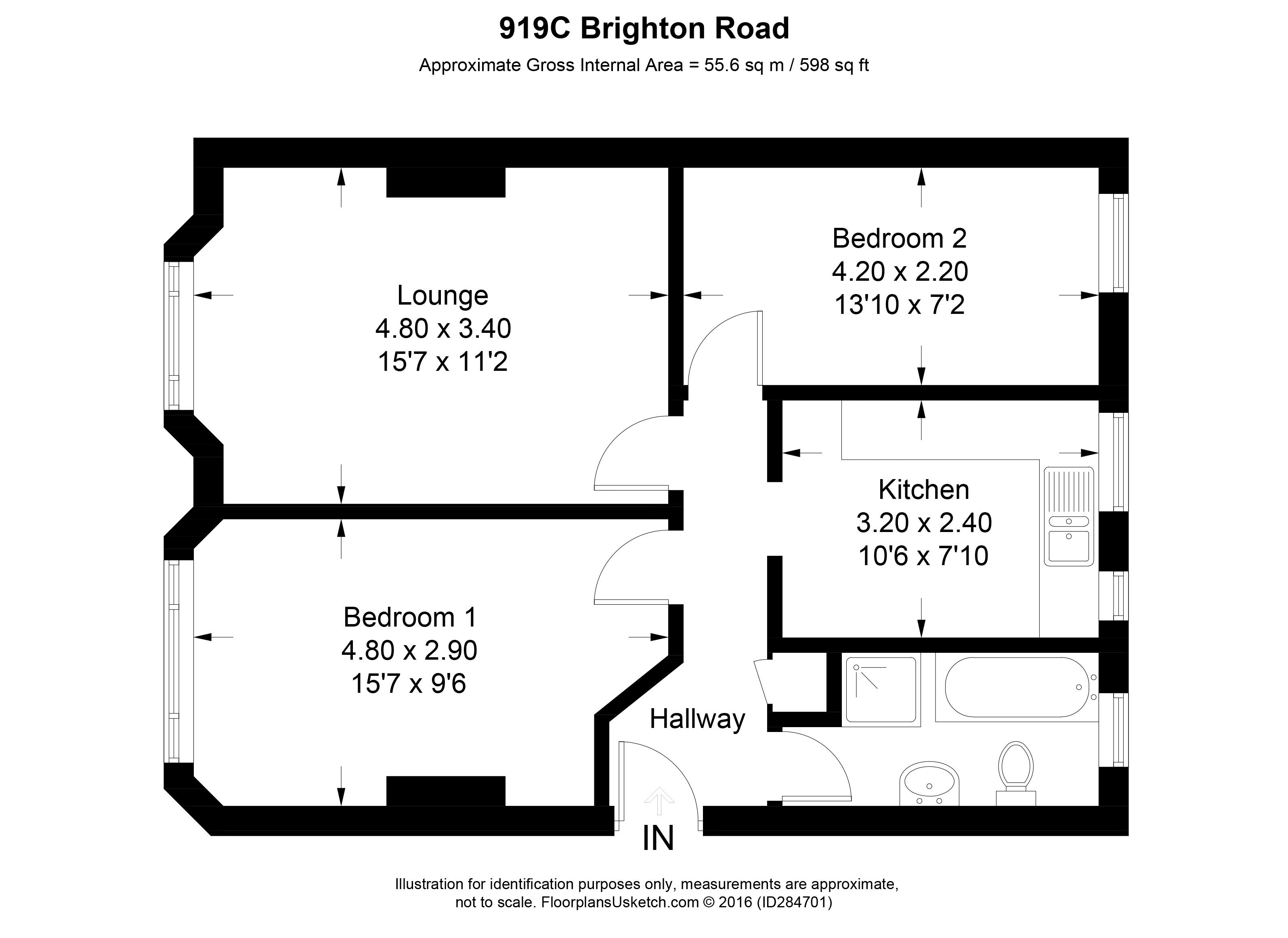 Brighton road purley cr8 2 bedroom flat to rent - 2 bedroom flats to rent in brighton ...