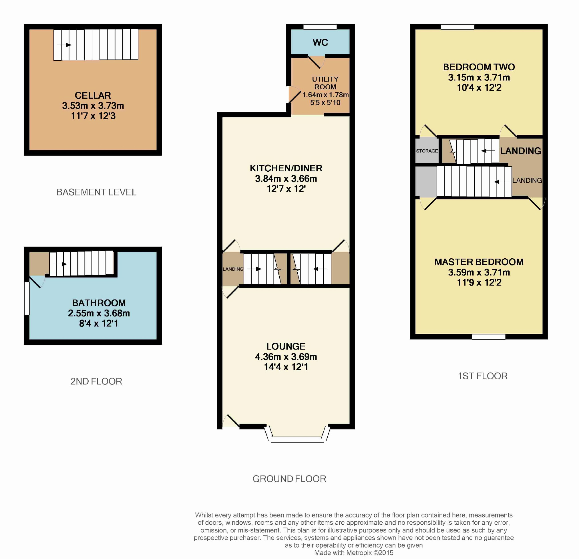 Old Hall Road, Chesterfield, Derbyshire S40, 2 Bedroom End