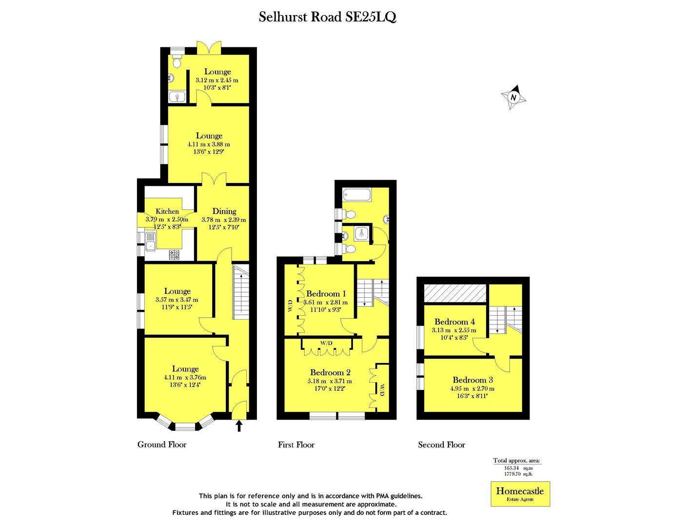 Gatwick Airport Floor Plan Selhurst Road London Se25 4 Bedroom Semi Detached House