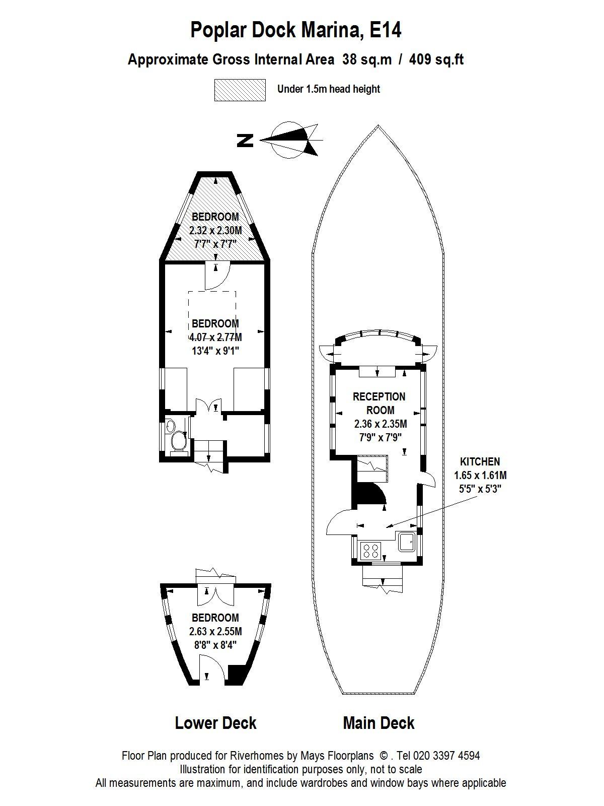 2 bed houseboat for sale in poplar dock marina docklands e14