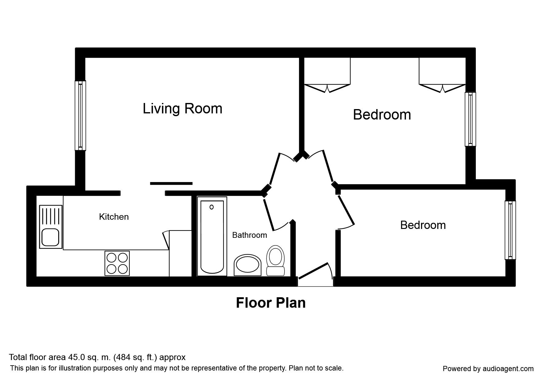 2 bed flat for sale in st johns hinckley le10 zoopla