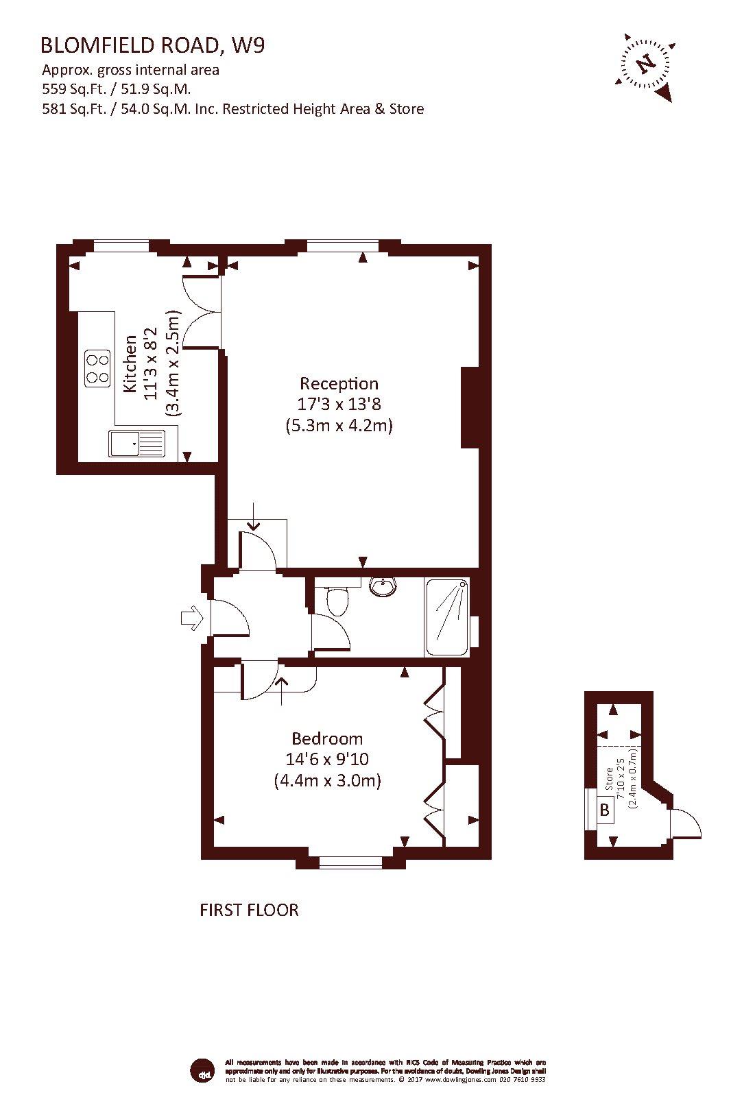 One Bedroom Warwick Avenue