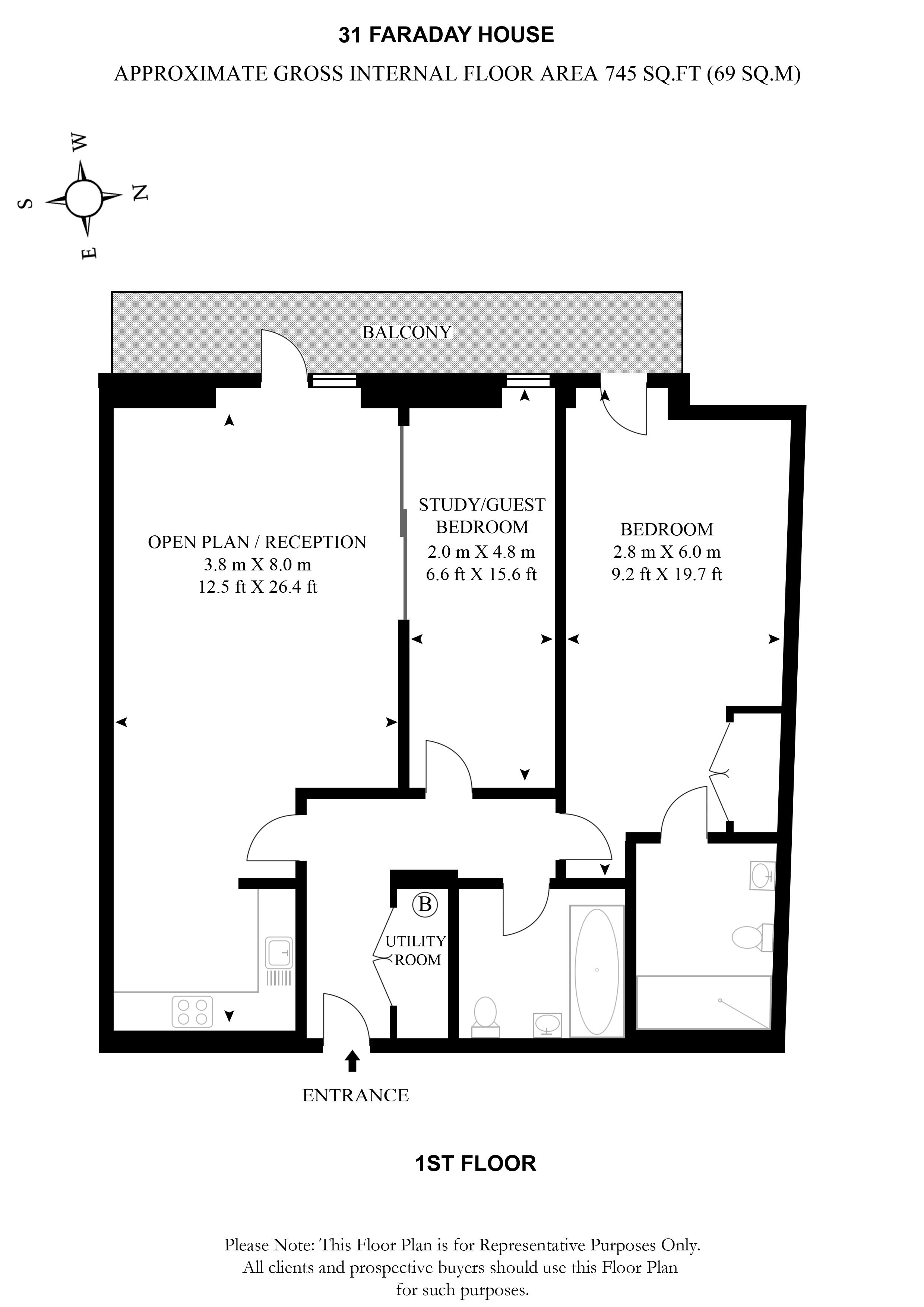 30 blandford london w1u 2 bedroom flat for sale for Blandford homes floor plans