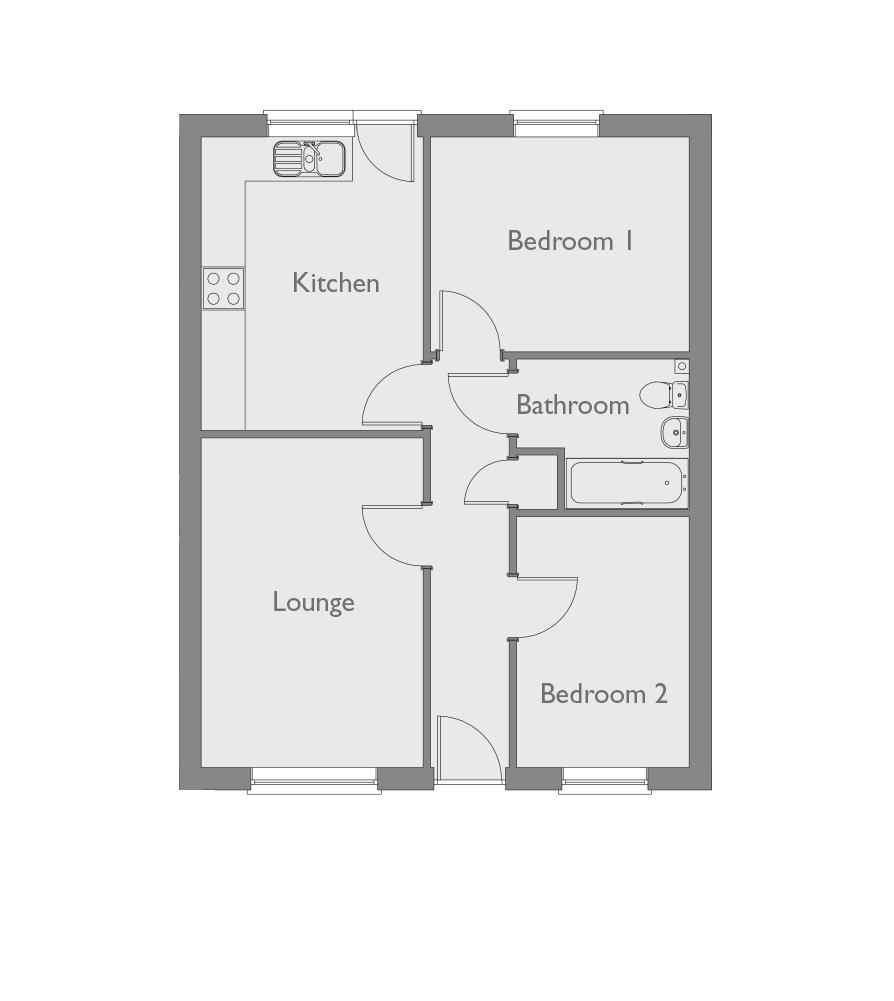 2 Bedroom Terraced Bungalow For Sale