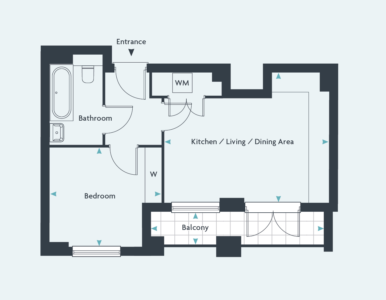 Gatwick Airport Floor Plan 1 Bedroom Flat For Sale In Lexicon Terrace At East City