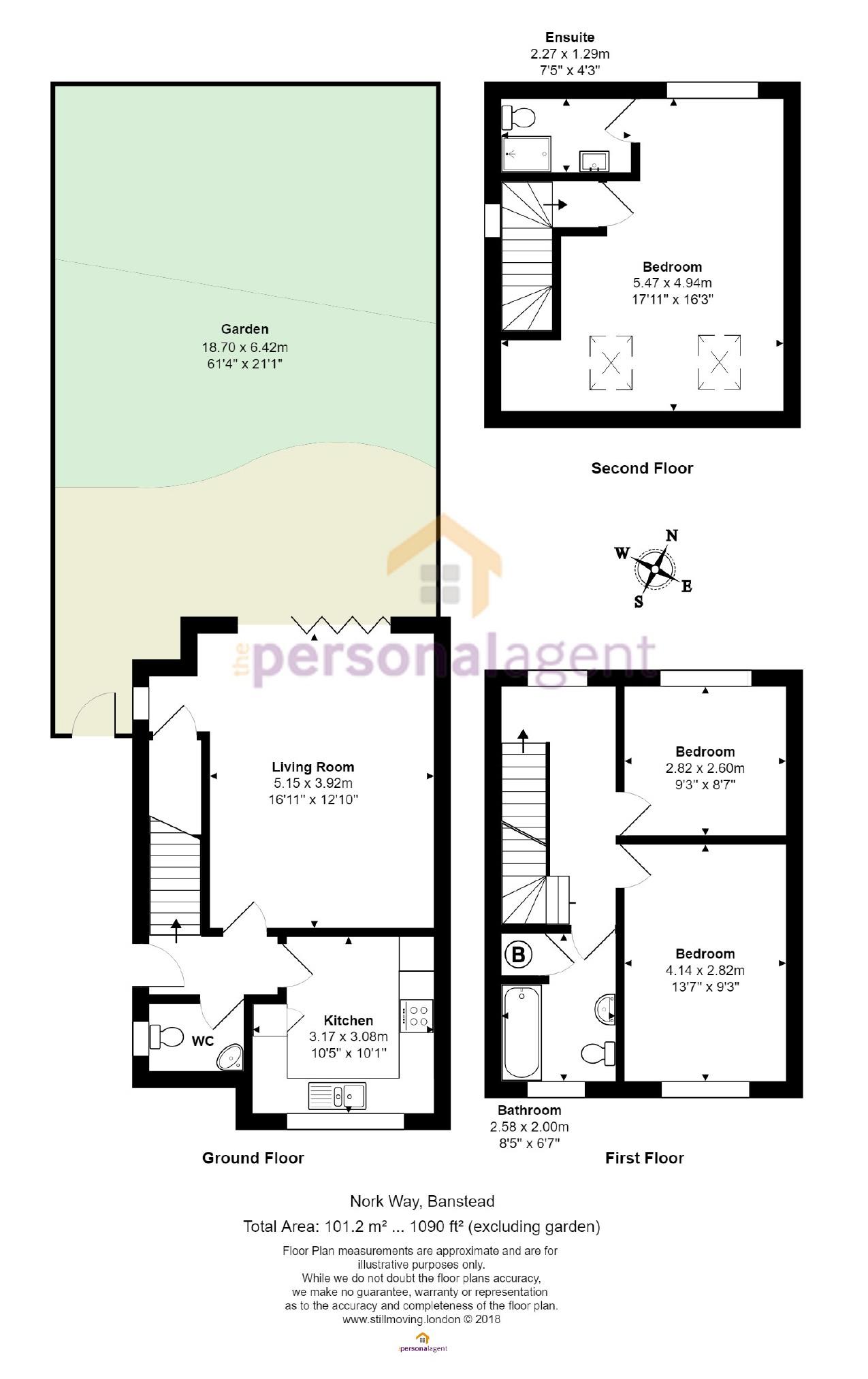 3 Bedrooms Semi-detached house for sale in Nork Way, Banstead, Surrey SM7