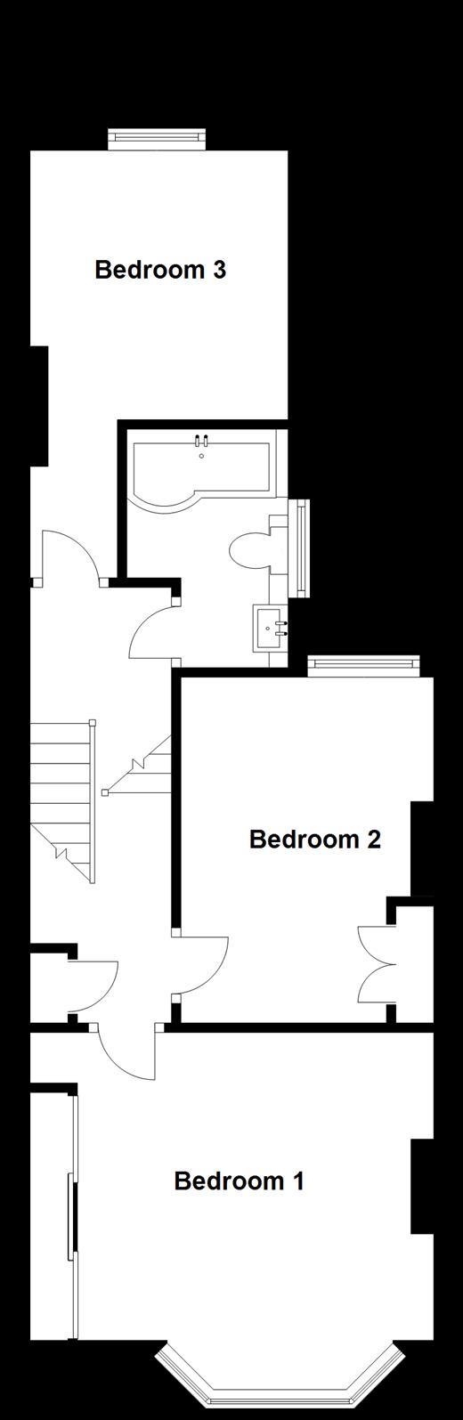 3 bed terraced house for sale in stuart road folkestone kent split level first floor plan jameslax Choice Image