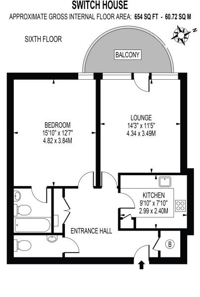 Switch House Blackwall Way London E14 1 Bedroom Flat For Sale
