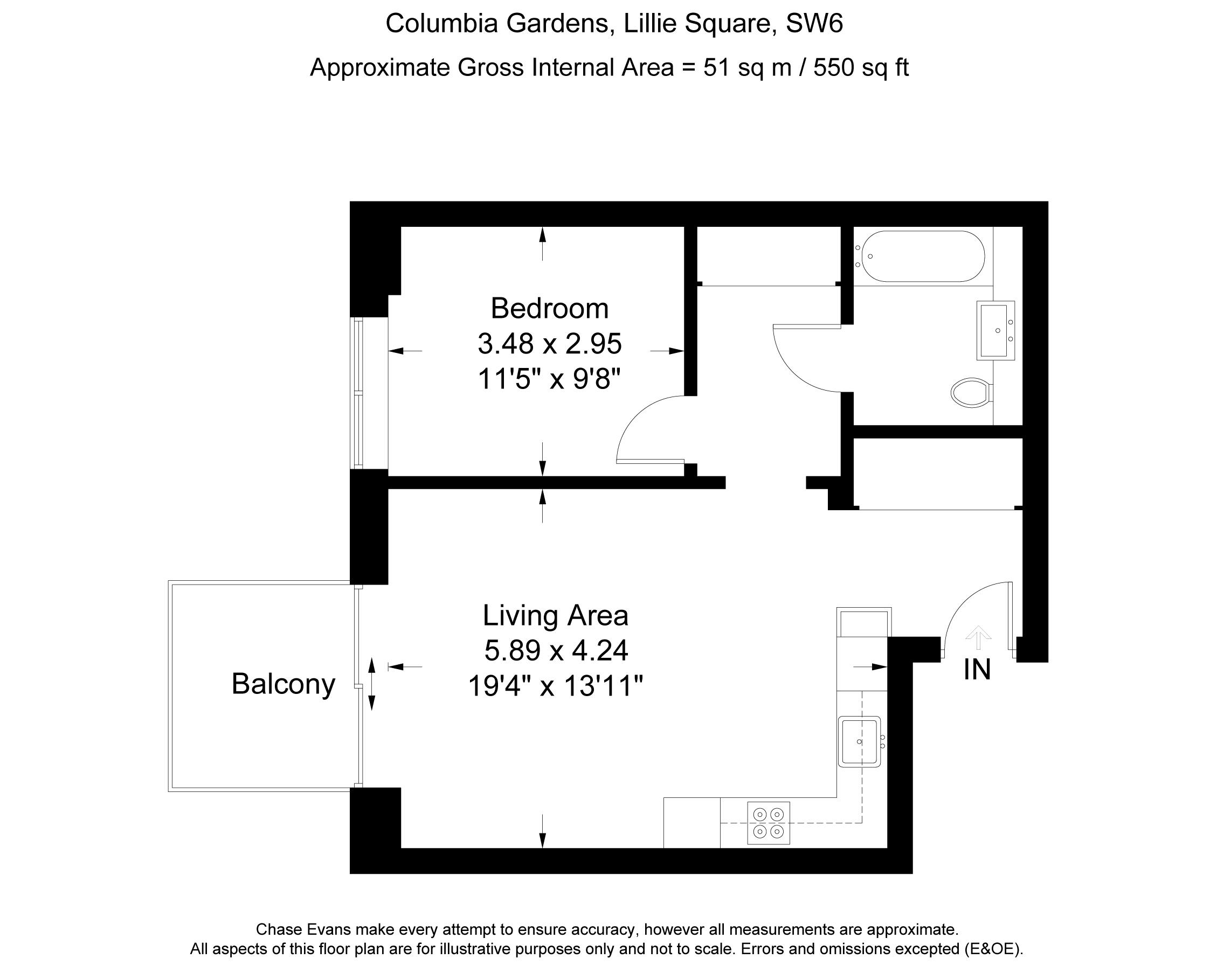 1 bedroom flat for sale 40824434 primelocation for Juice bar floor plan