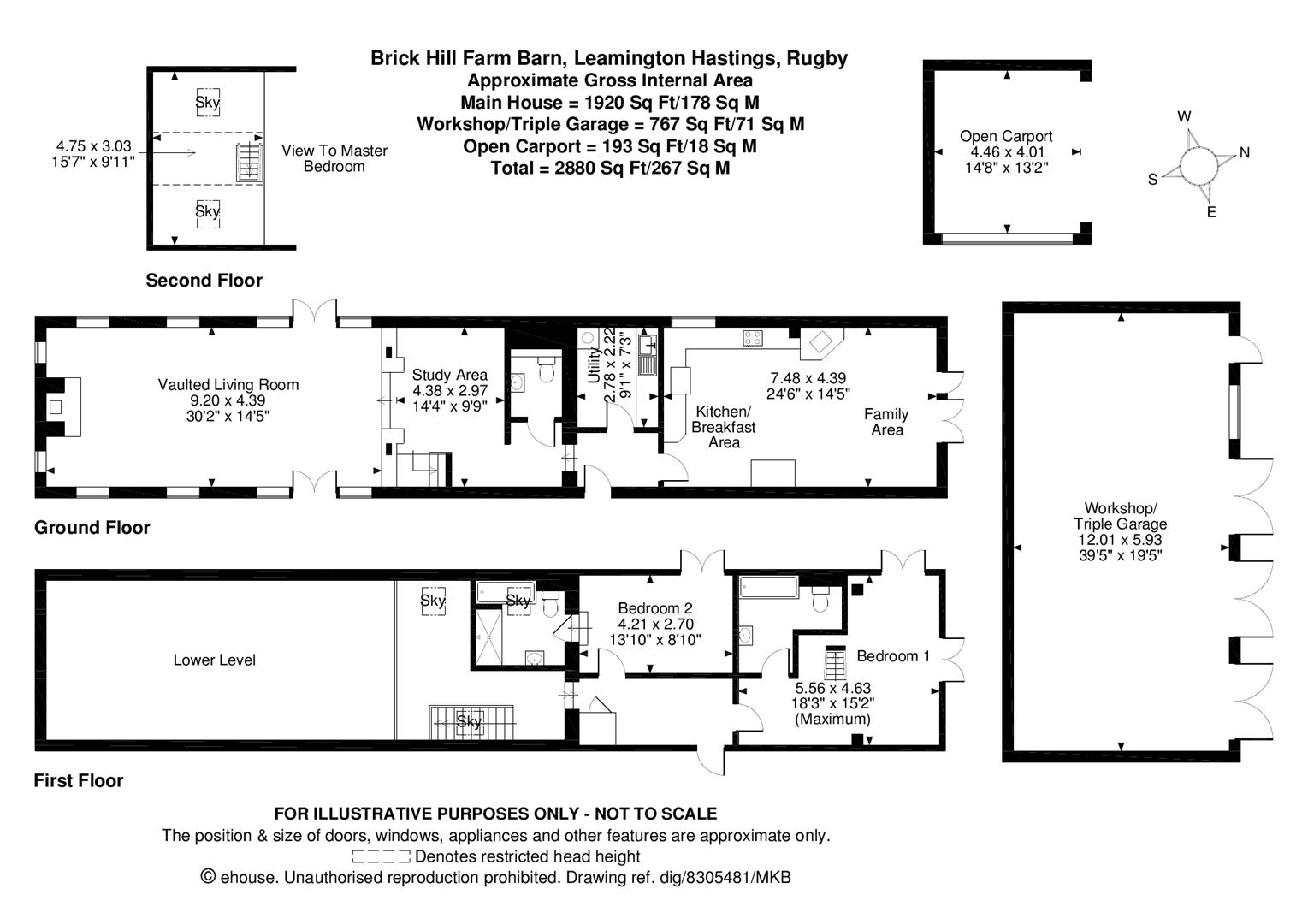 2 bedroom barn conversion for sale 44833288 primelocation for Barn conversion floor plans