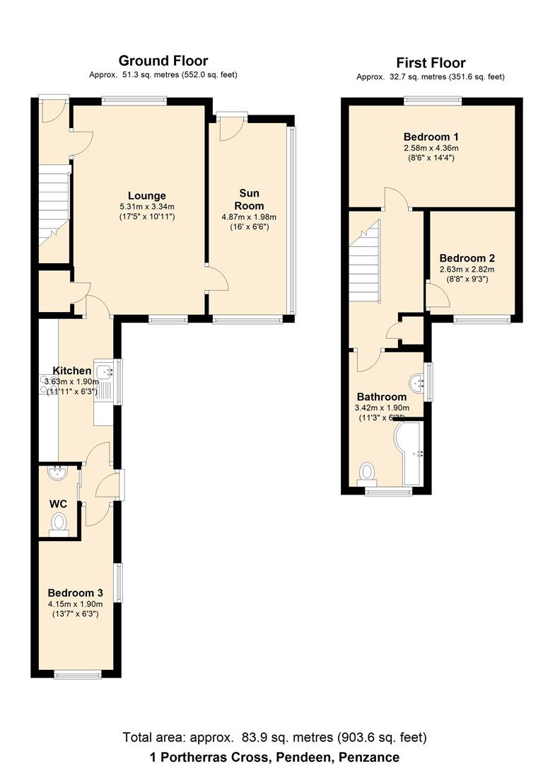 Portherras cross pendeen penzance tr19 3 bedroom end for 27 the terrace st ives for sale