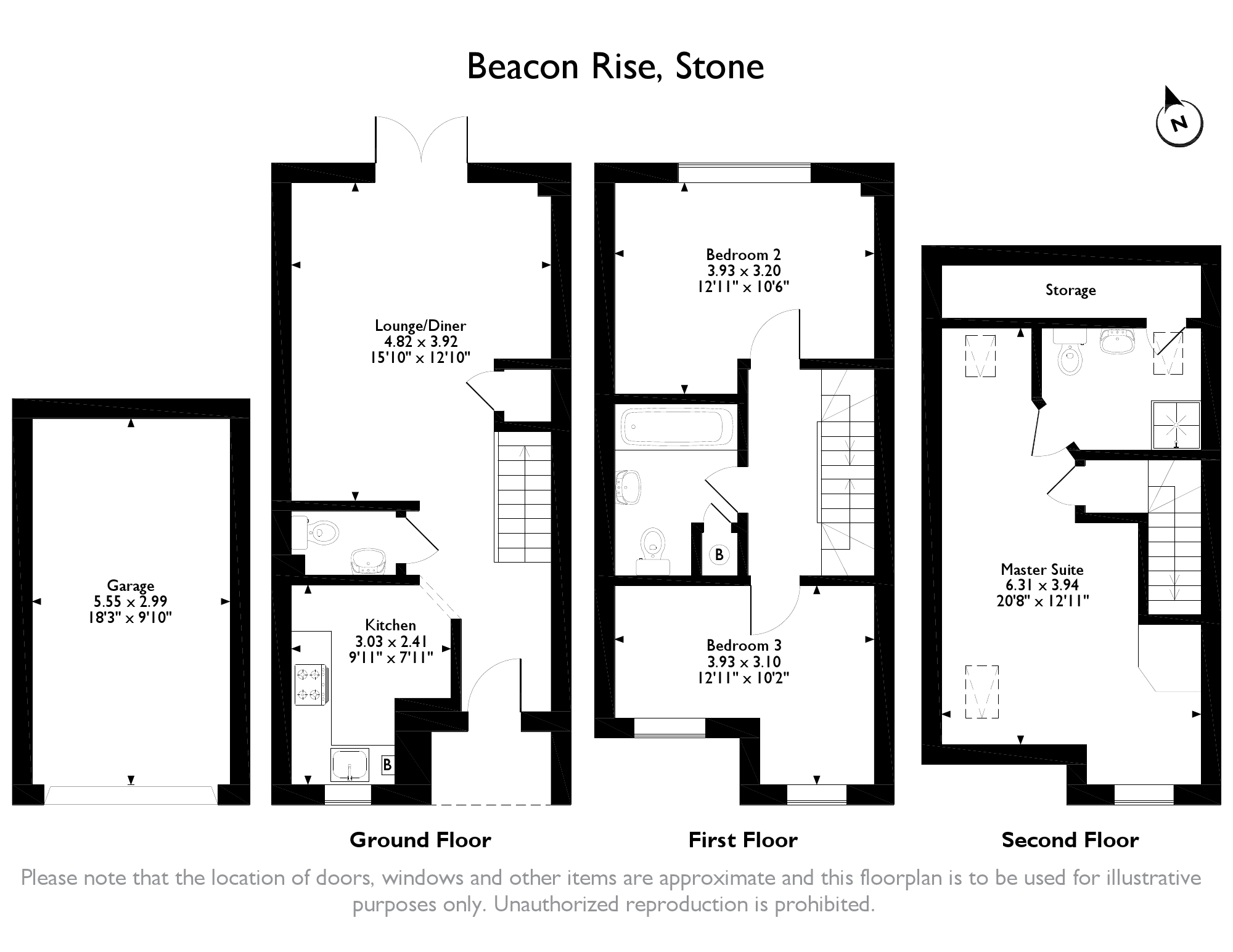 Beacon Rise Stone St15 3 Bedroom Town House For Sale 44741241 Primelocation