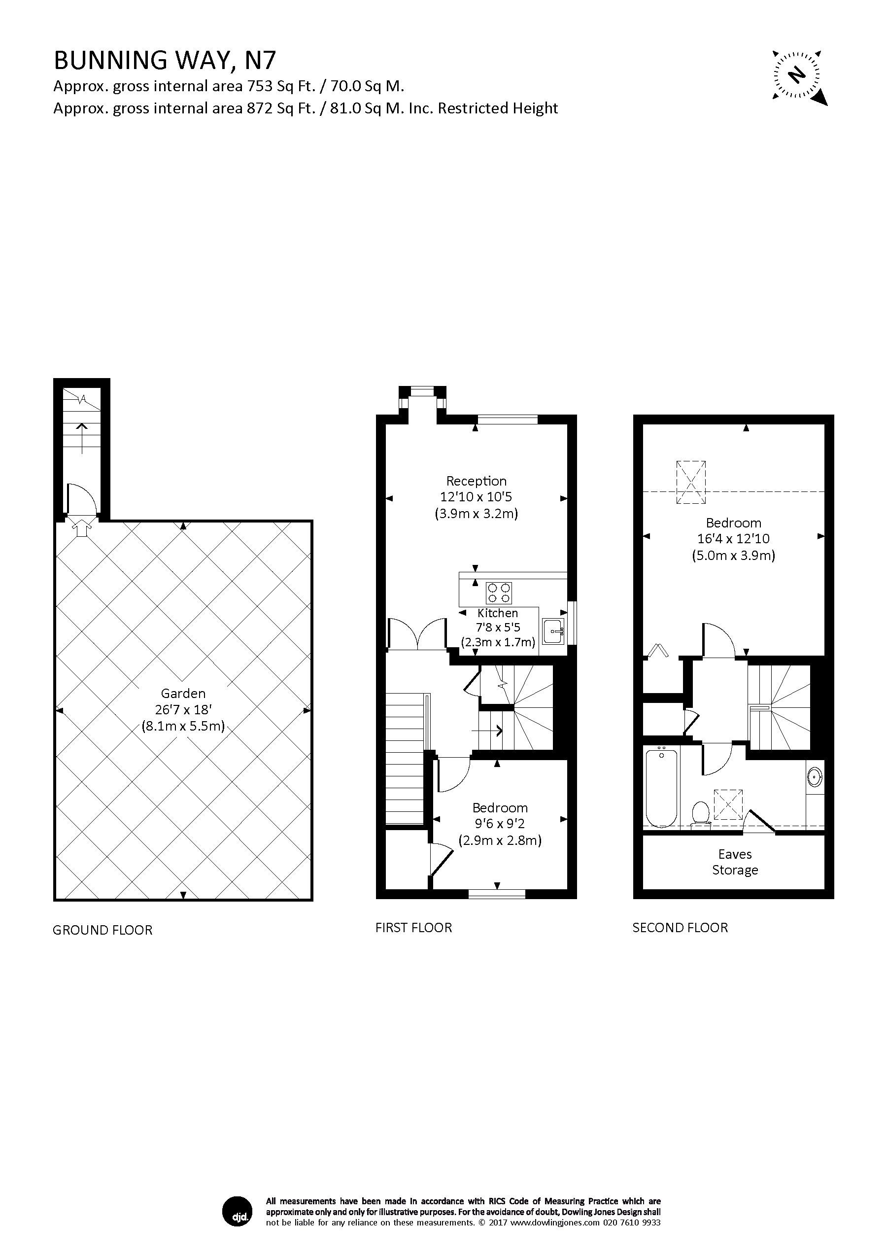 Bunning way london n7 2 bedroom flat to rent 44860628 for Azeri cuisine caledonian road