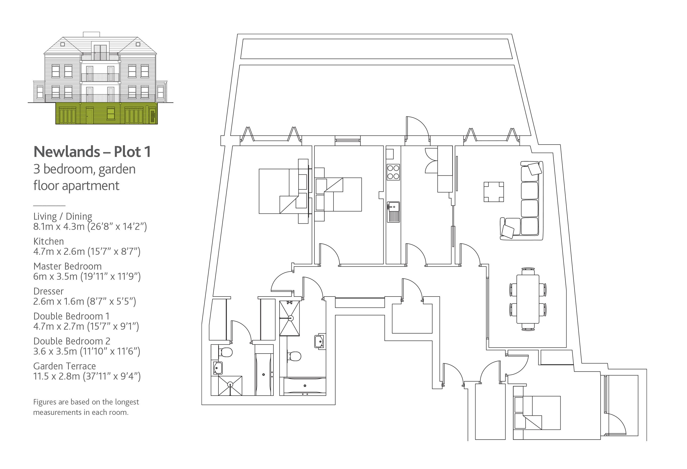 plot 1  newlands house  tenterden grove  london nw4  3