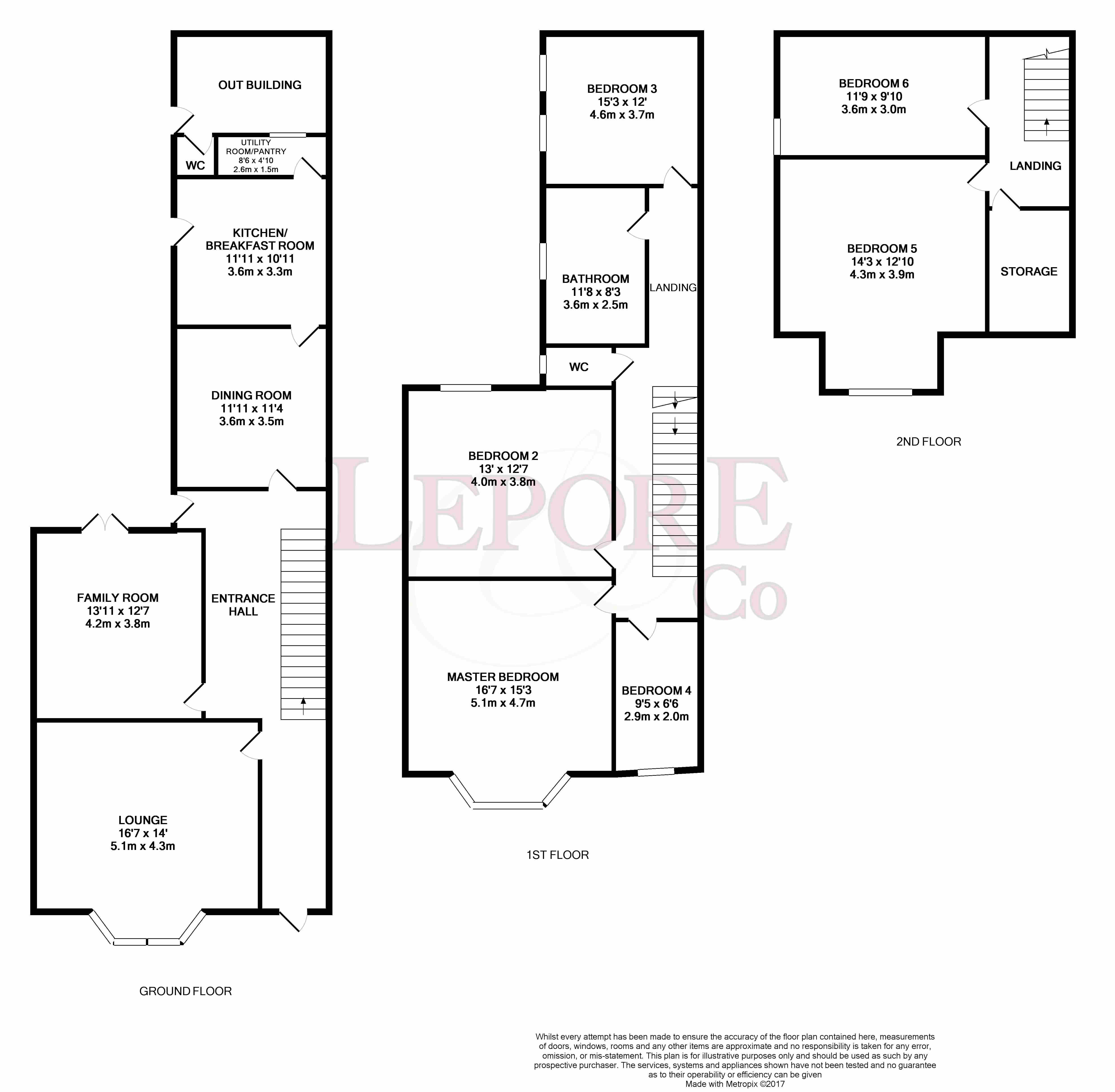 clapham road  bedford mk41  6 bedroom semi-detached house for sale