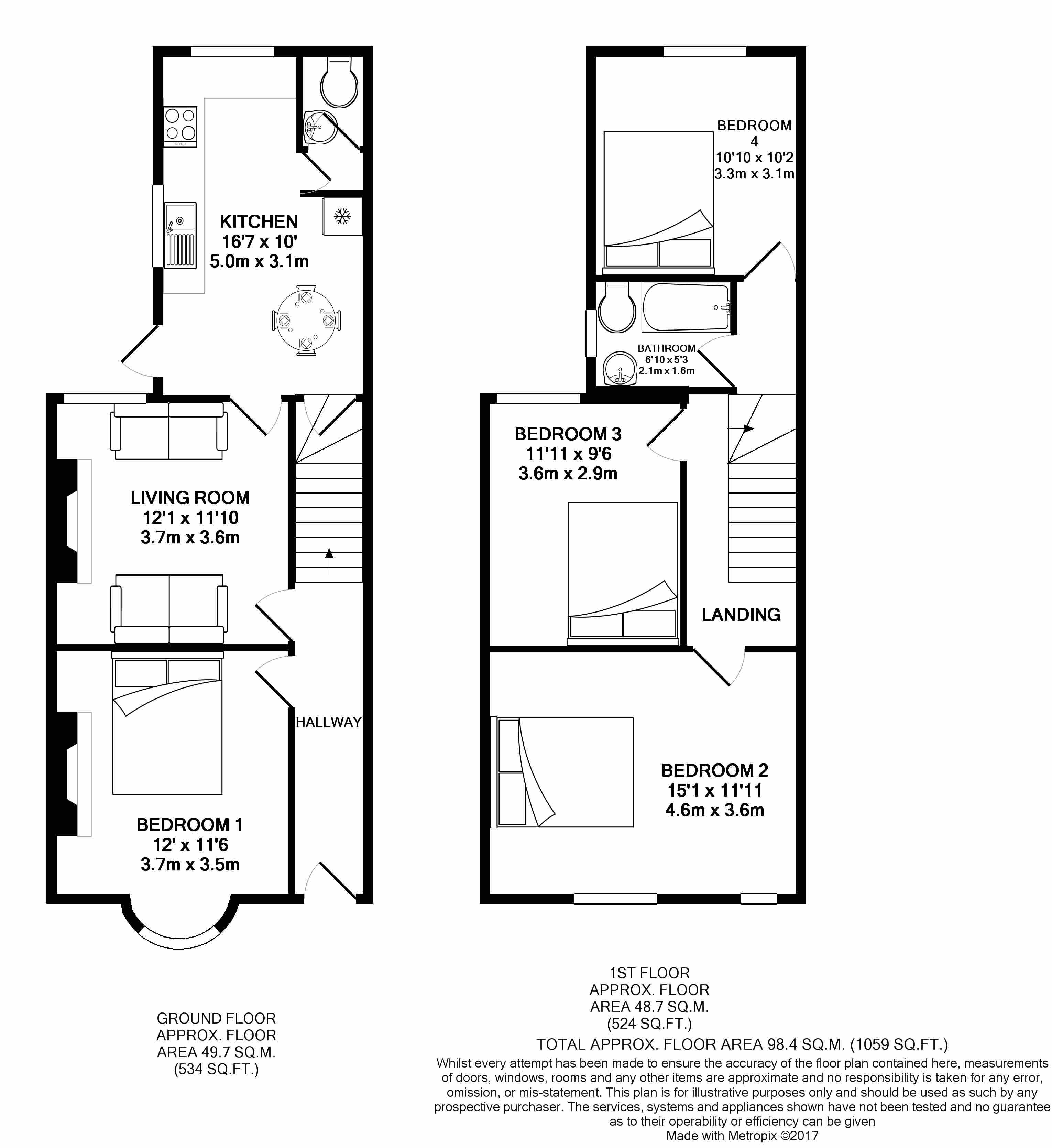 Marlborough road beeston ng9 4 bedroom semi detached for Marlborough house floor plan