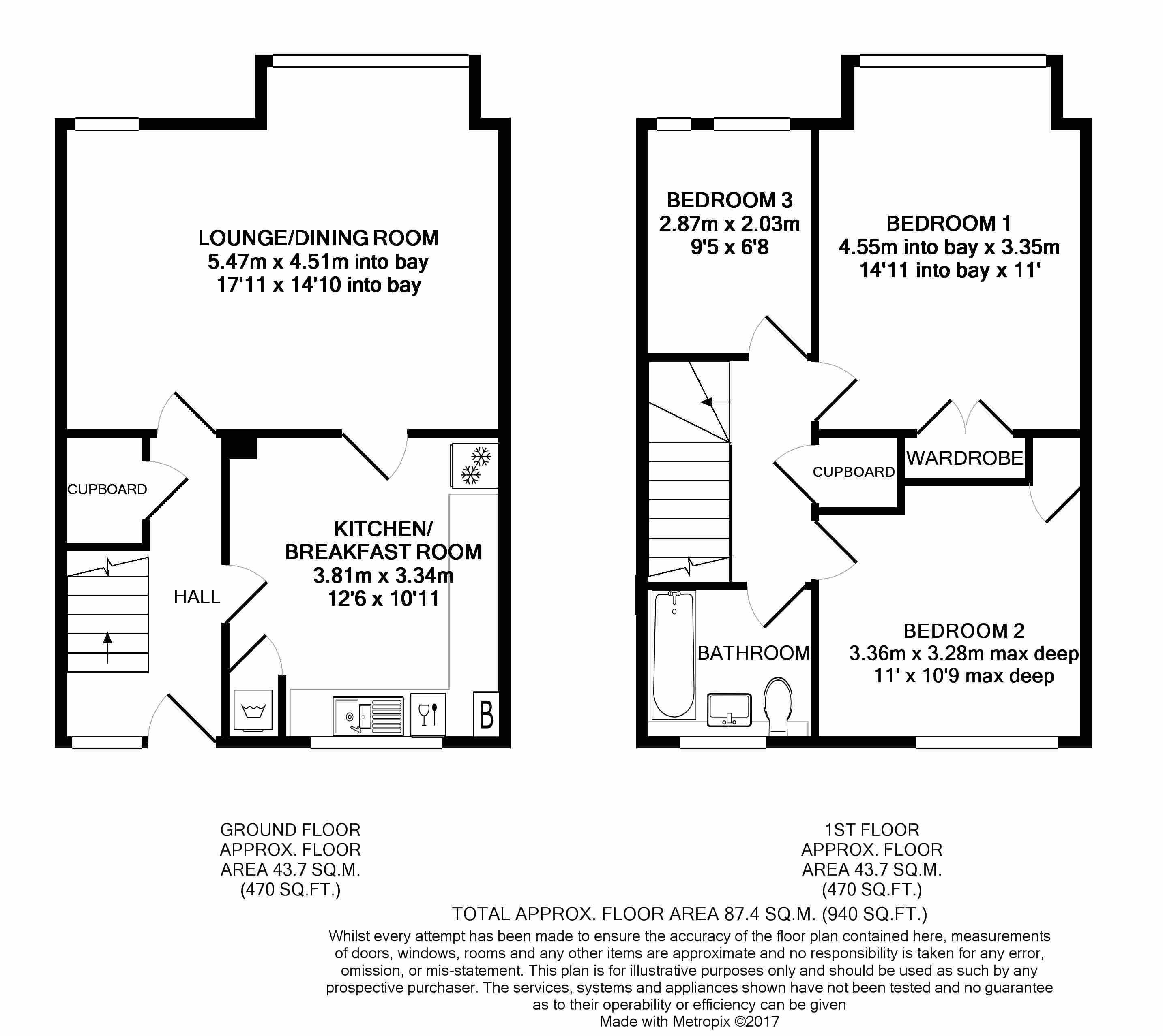 St richards court ashburnham road ham tw10 3 bedroom for Up down duplex floor plans