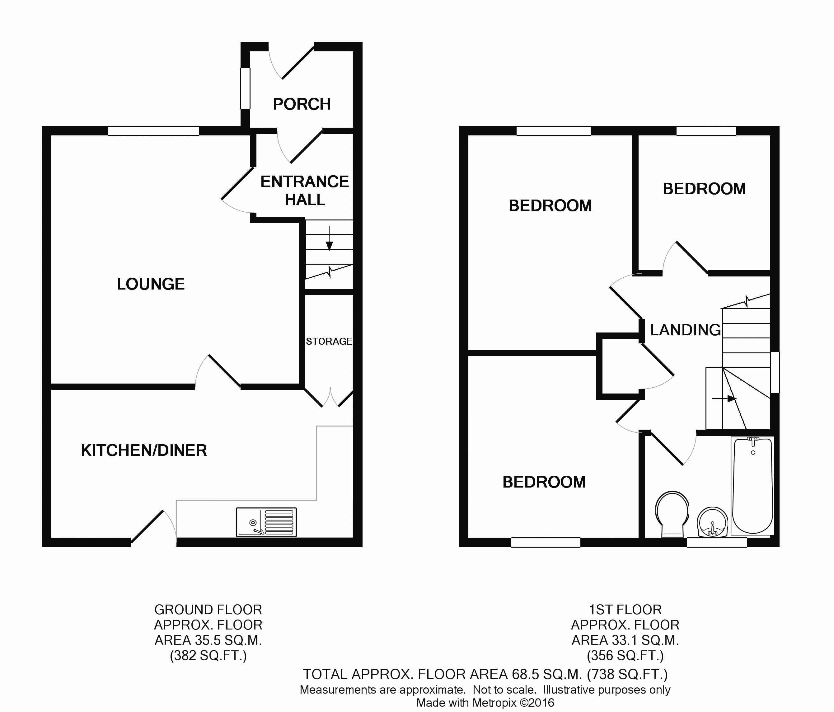 Alder Close, Bradwell, Great Yarmouth NR31, 3 Bedroom Semi
