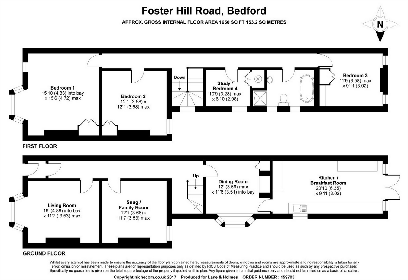 Foster Hill Road Bedford Mk41 4 Bedroom Terraced House