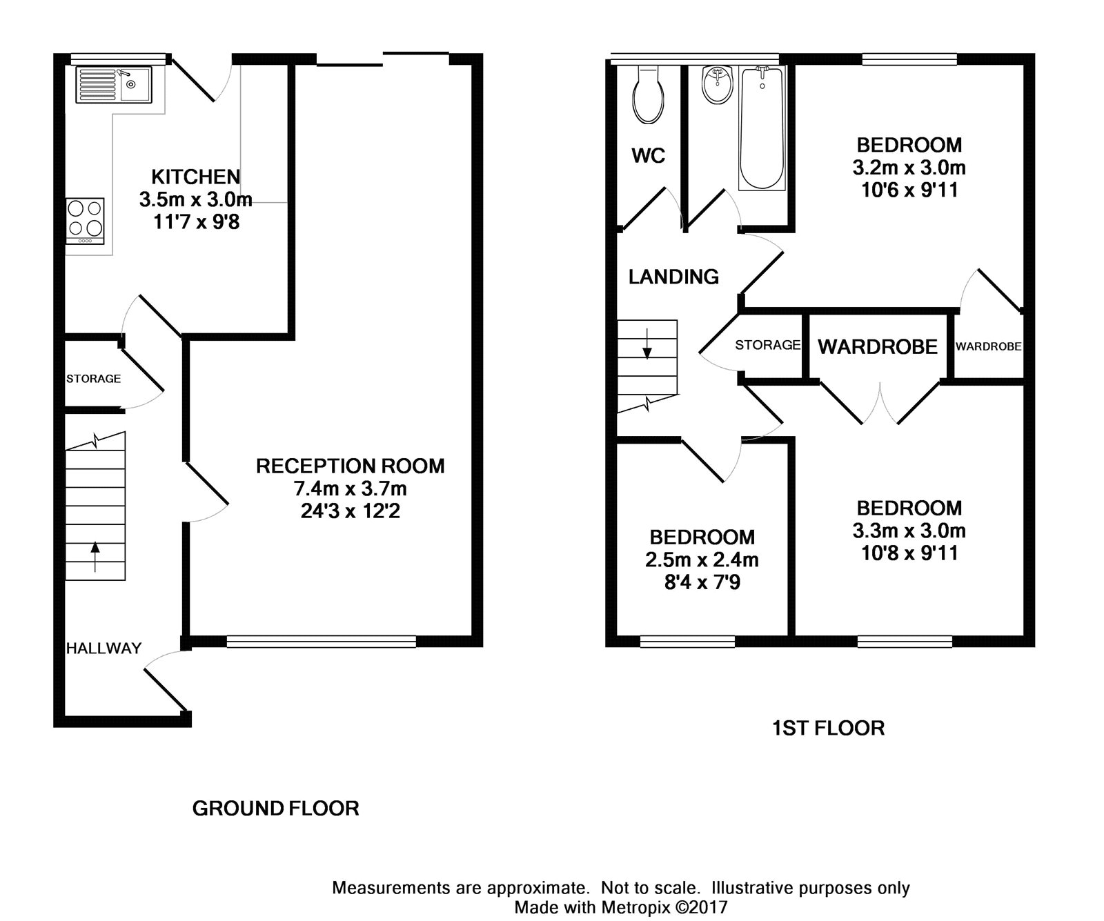 Bonney Way Swanley Kent Br8 3 Bedroom Semi Detached
