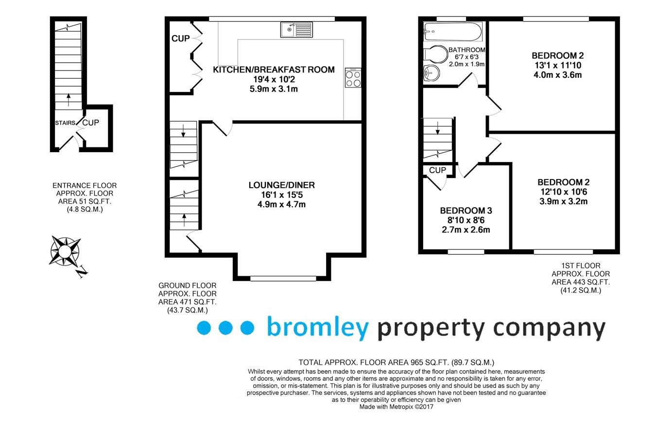 3 Bedrooms Maisonette to rent in St Marys Green, Biggin Hill TN16