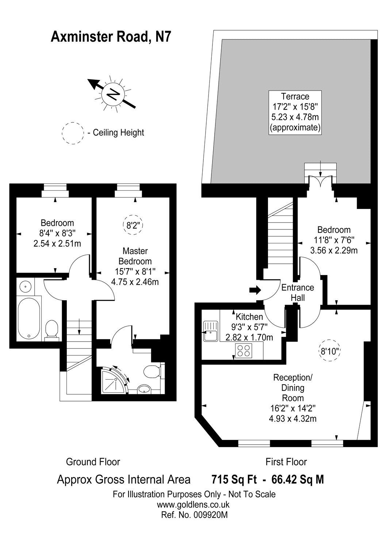 3 Bedrooms Flat for sale in Axminster Road, Holloway, London N7
