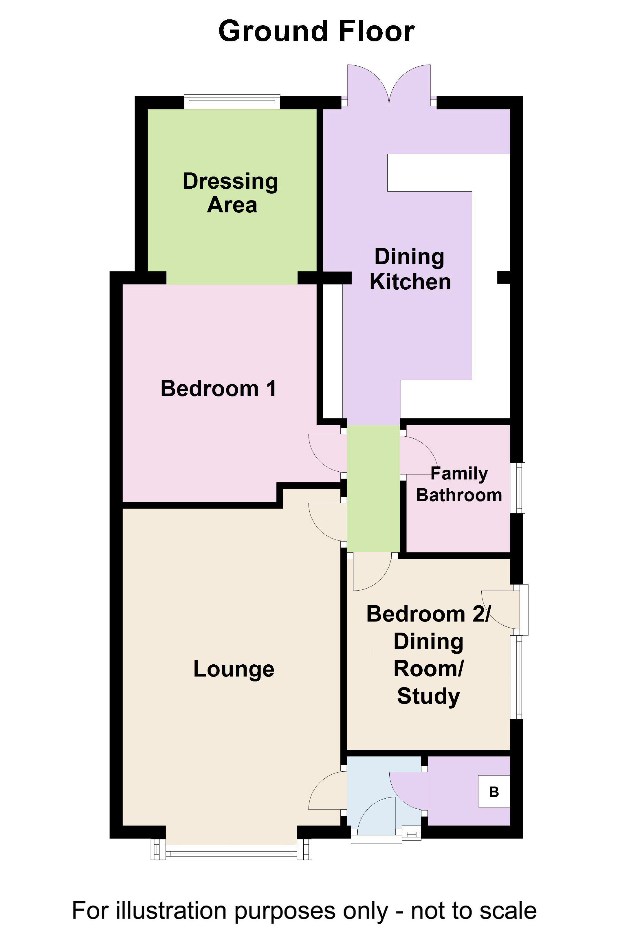2 Bed Semi Detached Bungalow For Sale In Riverside Avenue Farington Natwest Wiring Instructions Floorplan 1