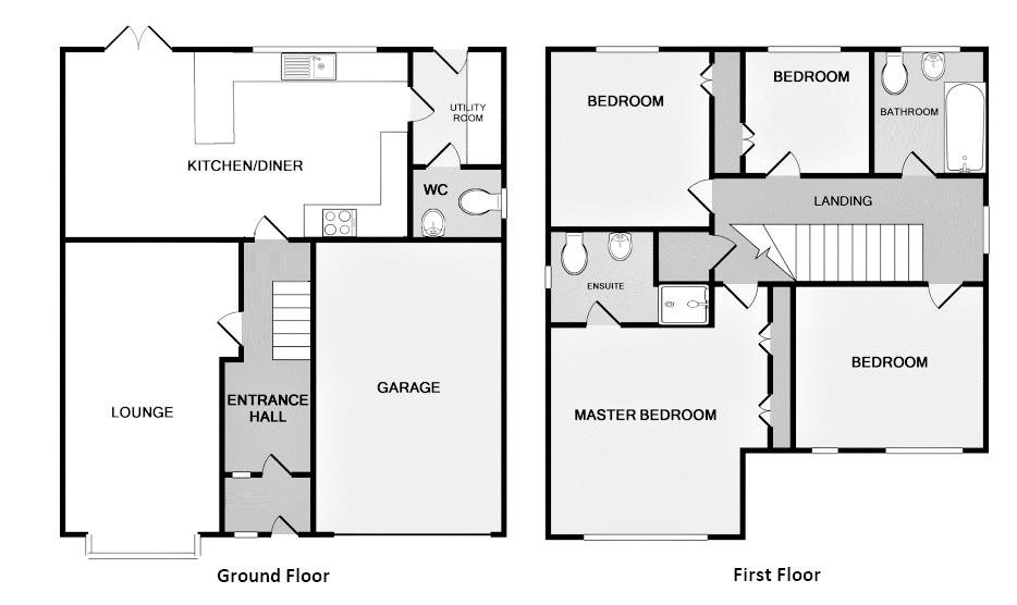 4 bedroom detached house for sale 45598447 primelocation for Ashby house plan