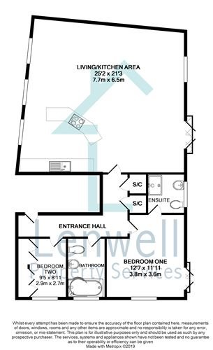 2 bed flat to rent in Canonbury, Monkston Park, Milton