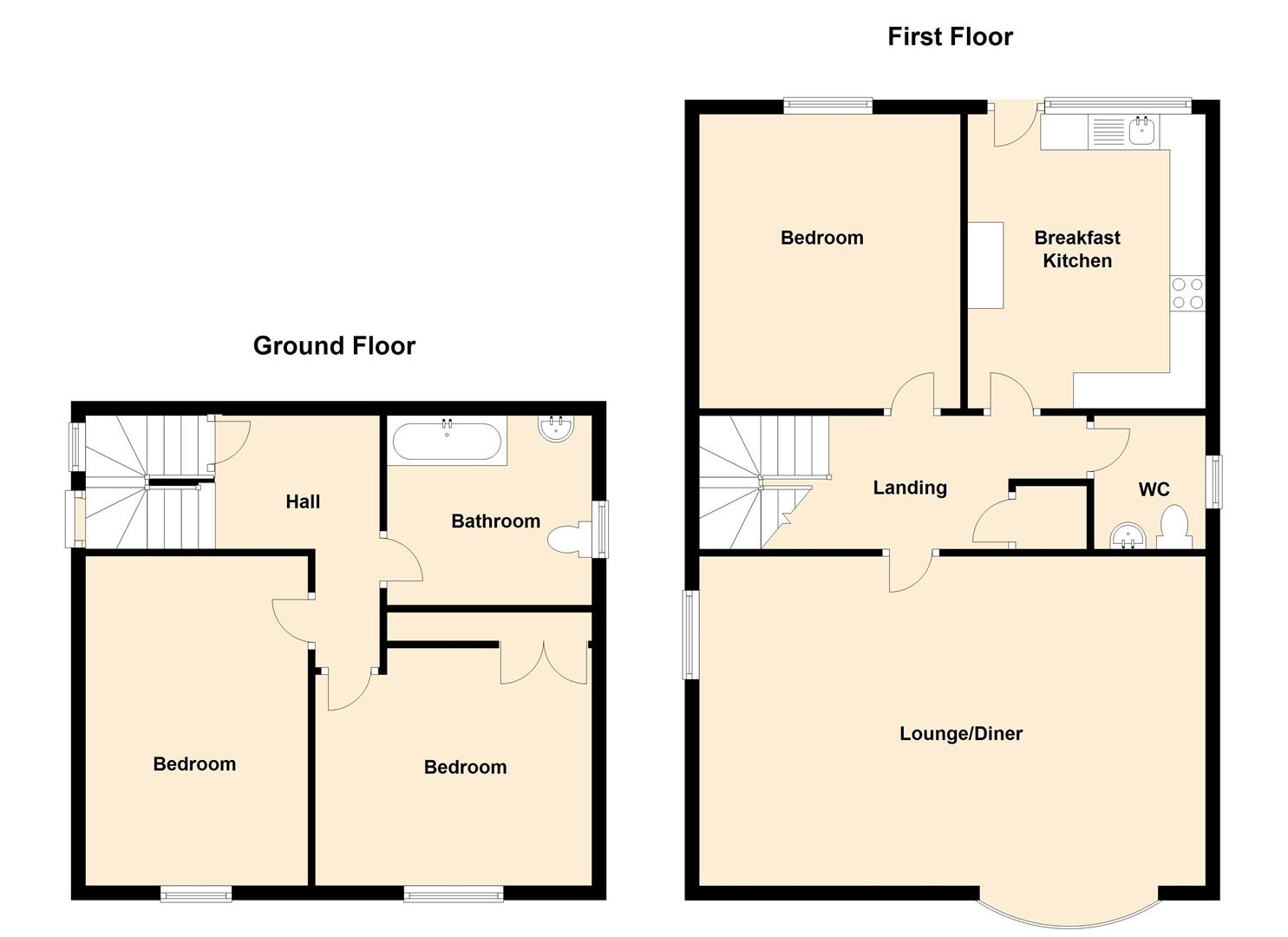 Brendon way ashby de la zouch le65 3 bedroom detached for Ashby house plan